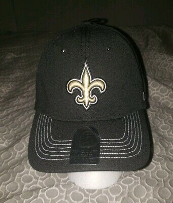 5d0219f3f48d5 NFL New Orleans Saints  47 Brand Closer Hat Stretch Strapback Black NWT   28.00
