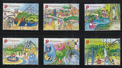 Singapore 2010 Playgrounds Comp. Set Of 6 Stamps In Fine Used Condition
