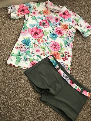 Next Girls Floral Tankini With Matching Bottoms Age 9 Years