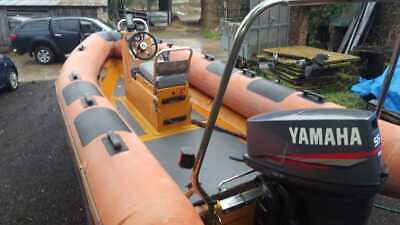 Ribcraft 5.35 Mtr Rib Powered By A 55 Yamaha 2 Stroke Braked Trailer