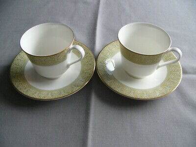2 x First Quality Royal Doulton Sonnet Tea Cups and Saucers - Superb