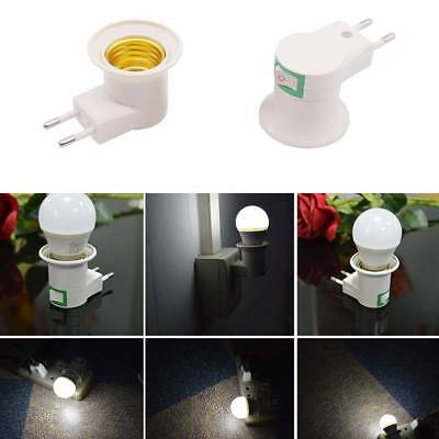 LED Light Male Socket to EU Type Plug Adapter Converter for Bulb Lamp Holder