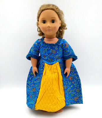 Fit For 18'' American Girl Felicity's BeForever Outfit Doll Clothes Meet Dress