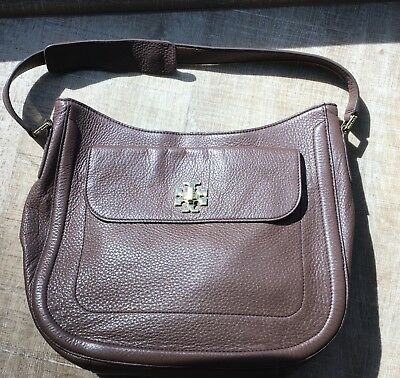 94b5d2c749a Tory Burch Mercer Slouchy Hobo Bag In Chocolate Brown Pebbled Leather