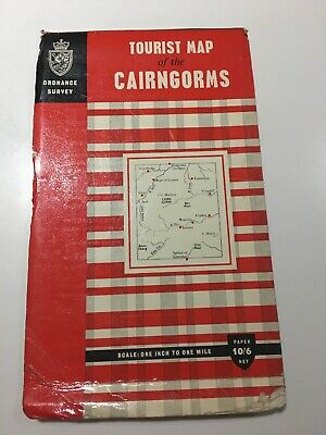 Vintage OS Tourist Map Of The Cairngorms 1964