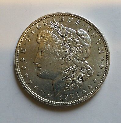 1921 - Morgan Silver Dollar - Last Year - 90% - US Coin *564