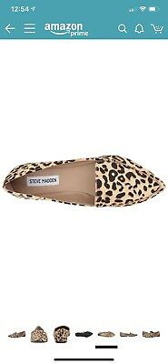 370a958a94f STEVE MADDEN LEOPARD Print Calf Hair Feather Loafer Size 7 -  12.99 ...