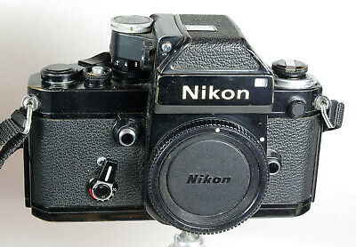 Nikon F2 Classic Black 35mm Film SLR Body, All Working, DP1 Finder (Faulty)