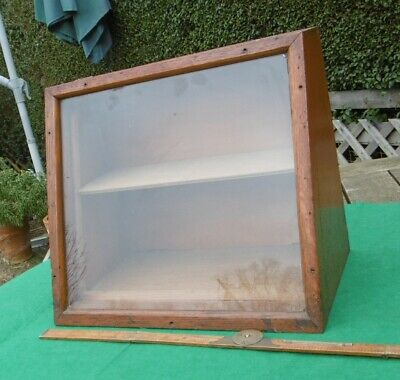 Antique vintage wooden counter top display case box