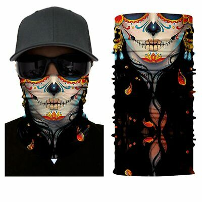 Skull Colorful Bandana Balaclava Hunting Fishing Outdoor Military Breathing