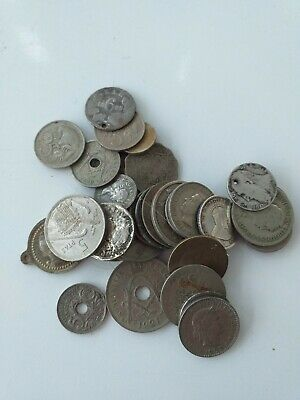 Job Lot Of Old Coins Silver