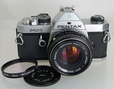 Pentax MX Mechnical 35mm SLR, 50mm F/1.7 Lens, New Seals, Working, Excellent