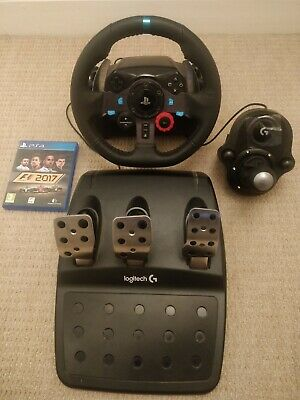 LOGITECH G29 RACING Simulator Wheel, Pedals, Gear Shifter & F1 Game  PS4  PS3 PC