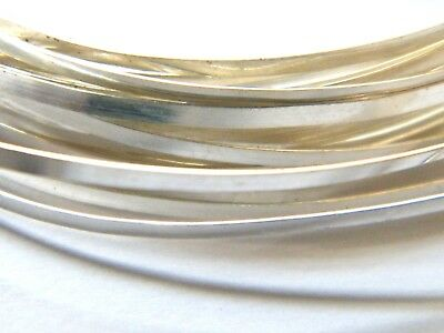 Sterling Silver Rectangular Wire 9.5mm x 3.2mm x 50.0mm Fully Annealed Sheet 925