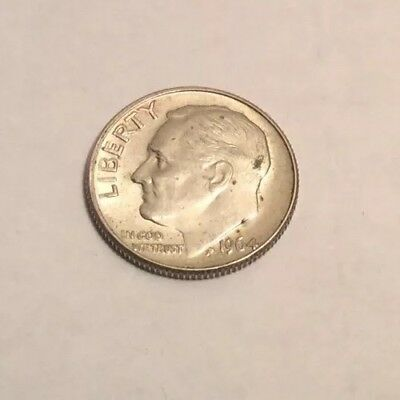1964 US One Dime Coin.