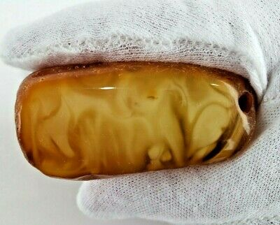 69.1 GR AMBER BALTIC NATURAL STONE RAW Pendant 100% GENUINE Amber Multicolor S37
