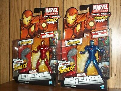 Hasbro Marvel Legends Terrax series Extremis Iron Man & Blue variant MOC/MIP