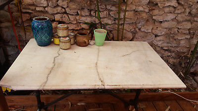 table bistrot ancienne marbre