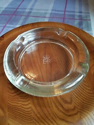 ER Royal GPO Post Office Heavy Glass Ashtray