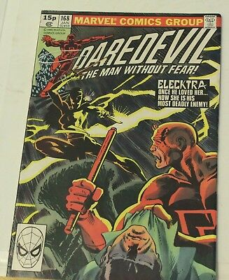 daredevil #168 1981 marvel comic key issue