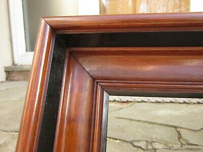 c1860 Excellent Large AMERICAN DEEPWELL Walnut Antique VICTORIAN Scoop Frame