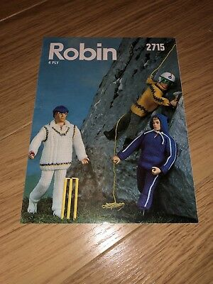 Knitting Pattern Robin 2715 Vintage 60s 70s Action Man Clothing Rare