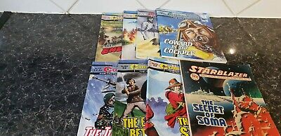 7 commando comics + 1 'Starblazer' - see pictures for numbers