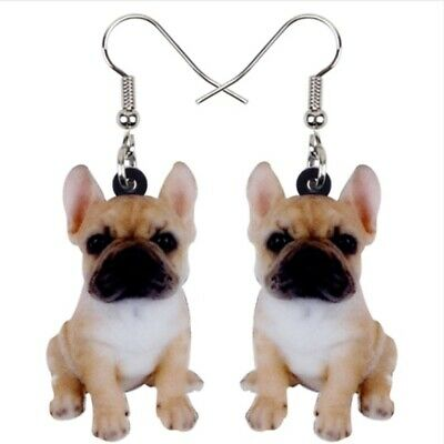 New Brown French Bulldog Dog Pet Animal Lover Puppy Drop