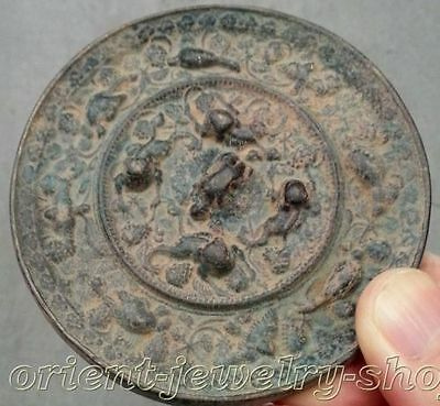 antique excellent Old Bronze mirror folk collecton! china Dynasty copper Statue