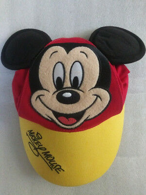 1743940b500 Walt Disney World Red Baseball Cap Hat with Mickey Mouse Applique Toddler  size