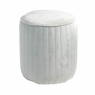 RV Astley Haceby Stool Oyster Velvet Dressing Table Stool Round Velvet Stool