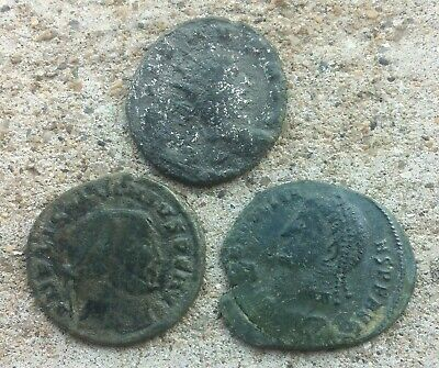 LOT OF 3 ANCIENT ROMAN  COINS(need fine cleaning)