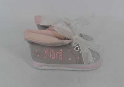 a5cbfbac4c53 My 1st Yeats Personalised Glitter High Top Trainers 0-6 Months JS087 NN 12