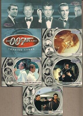 James Bond 40Th Anniversary - A Rittenhouse 2002 Trade Card Set + 2 Sub Sets +++