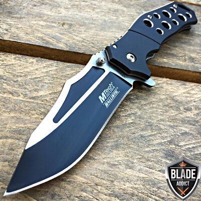 "8"" MTECH BLACK SPRING ASSISTED OPEN Military Tactical Folding POCKET KNIFE EDC-S"