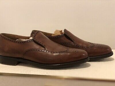 8de270cae54 Vtg Peal   Co England Brooks Brothers Punched Wing Tip Loafers Mens ...