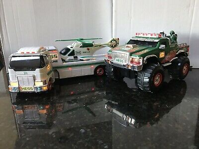 Hess Collectible Trucks Helicopter Monster Truck with Motorcycles 2006/2007