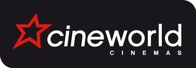 2 Child Cineworld 2D Tickets eCodes, exp. Jan 2020, worth up to £18.40