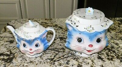 Lefton Miss Priss Cookie Jar (1502) & Tea Pot ( 1516)