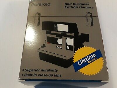 Polaroid Instant Camera 600 Business Edition w/Strap New Old Stock