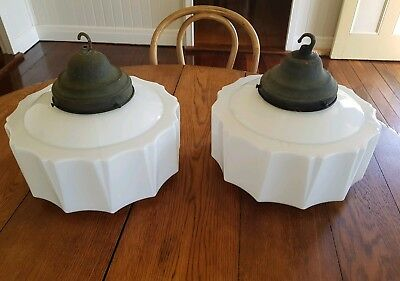 Gorgeous Pair Of Original Art Deco Lights