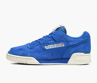 Reebok Men s Classic Workout Plus Vintage Trainers Running Shoes BD3382 Blue b86aeed34