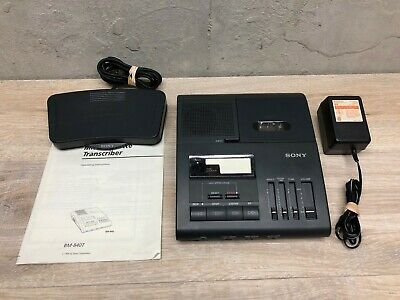 BM 840 Sony Micro Cassette Transcription Machine w/ Foot Pedal & Power Adapter