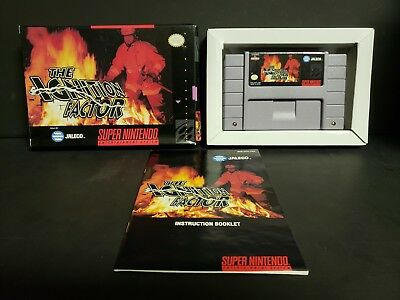 Ignition Factor (Super Nintendo Entertainment System, 1994) Complete Boxed Nice