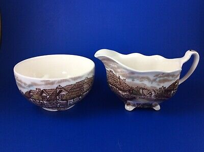 Johnson Brothers Olde English Countryside Creamer And Sugar Bowl