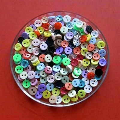 200 Wholesale Mini Doll Micro Tiny Clothes Mixed Lot Assorted Sew Button 6mm 10L