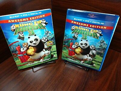 Kung Fu Panda 3 (Blu-ray/DVD+HD Digital) Slipcover-NEW-Free Shipping w/Tracking