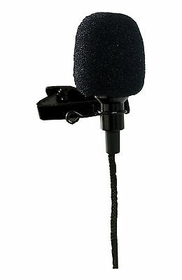 Lavalier Clip-on Omni-Directional Condenser Microphone for Computer, Color Black