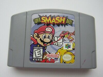 Authentic Super Smash Bros Nintendo 64 N64 OEM Mario Video Game Brawl Melee Rare