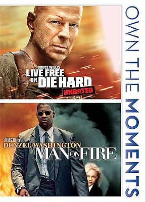 Live Free or Die Hard/Man on Fire (DVD, 2012, 2-Disc Set) NEW & SEALED